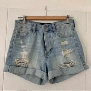 Hollister Shorts - Hollister High Rise Boyfriend Shorts